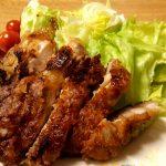 長野の郷土料理、鶏肉の山賊焼き(もも肉)